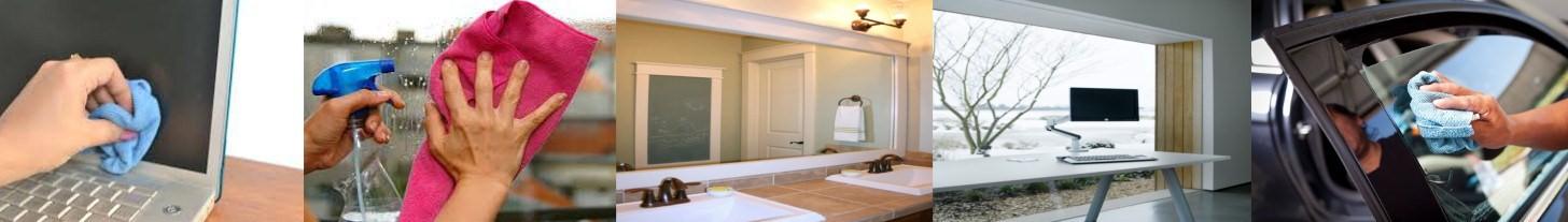 Klaasi-, akna- ja peeglipuhastusvahendid